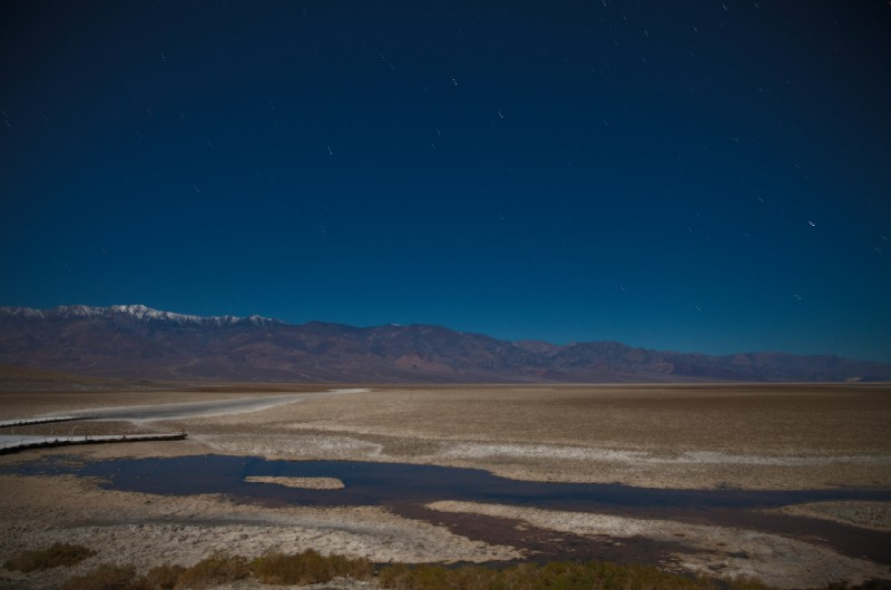 HDR star trails badwater basin deathvalley